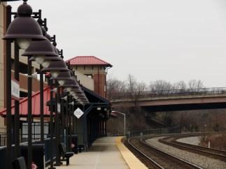 VRE station, Burke, VA, facing West