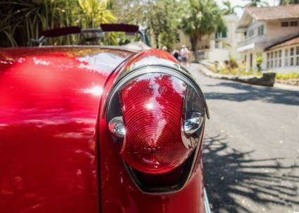 Tail light, Mid 1950s Oldsmobile convertible