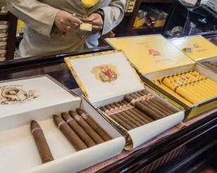 Cuban cigars at Ron's Tabaco Cafe