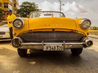 Yellow 1955 Buick Roadmaster convertible