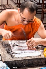 Silversmith at Wat Sri Suphan