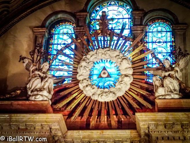 Eye of God in Cathedral of Málaga