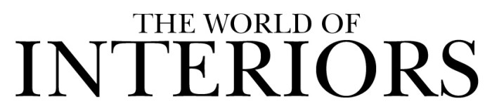 """World of Interiors logo, The official logo for my campaign of """"as featured in The World of Interiors Magazine"""""""