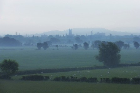 Gloucester skyline and Severn Valley
