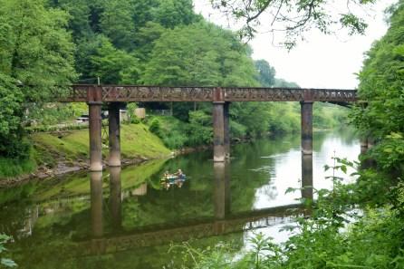 The old Redbrook railway bridge