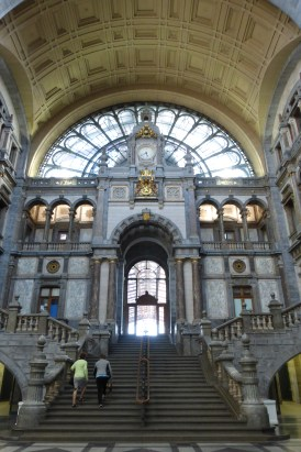 The grand staircase of the entrance hall