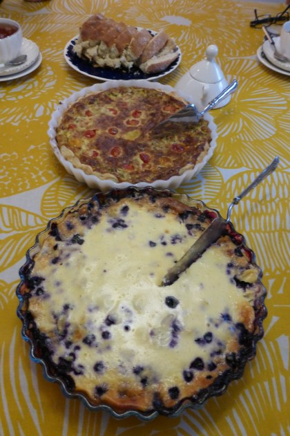 Chanterelle pie & blueberry pie, both baked by one of my friends