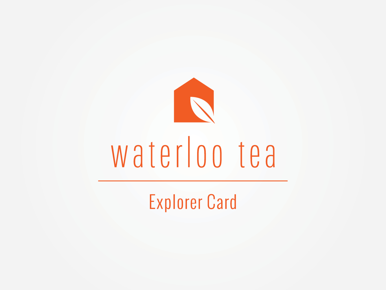 Waterloo Tea Cardiff upscale cafe loyalty card design