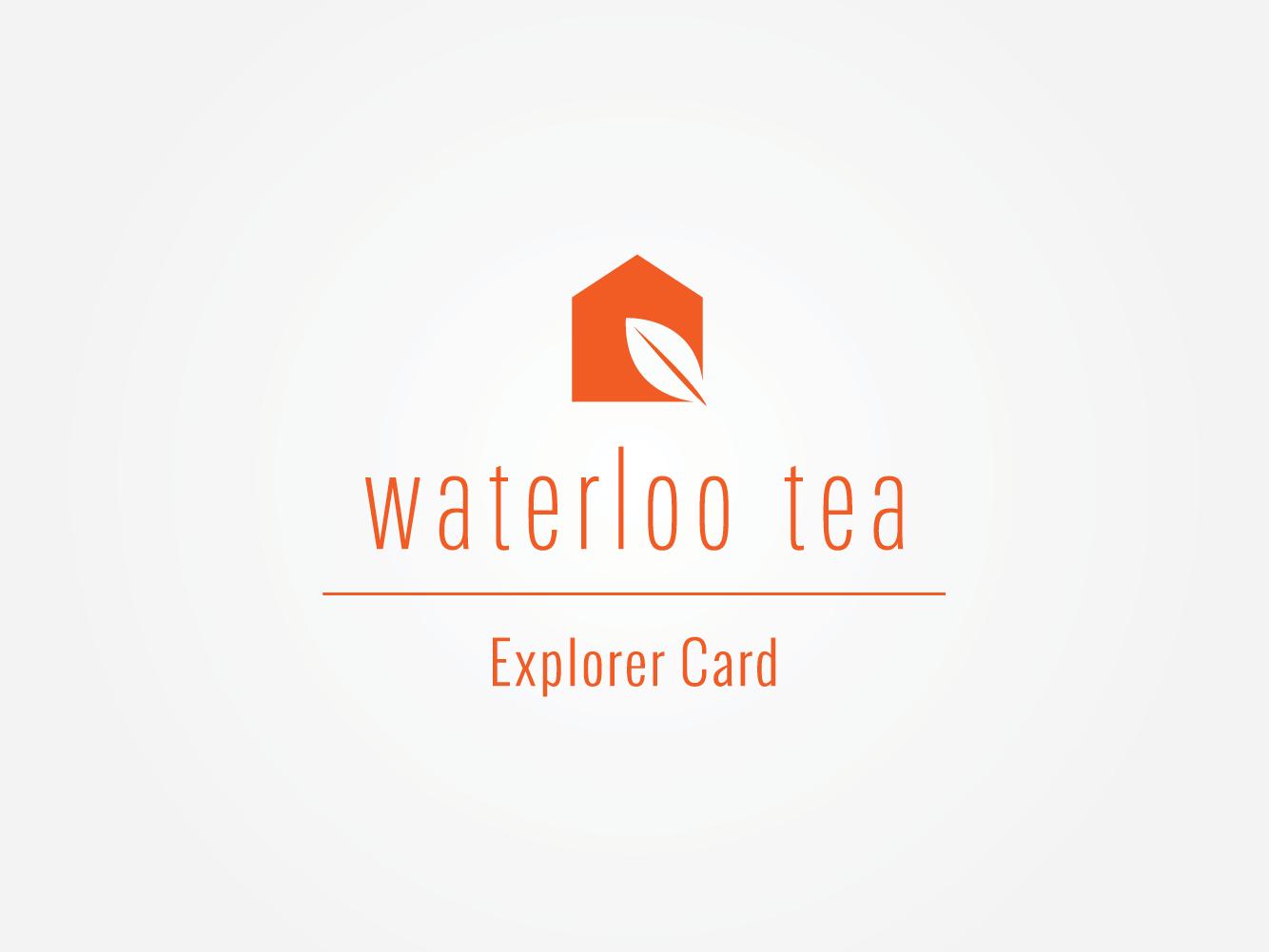 Waterloo Tea Cardiff upscale cafe loyalty card design