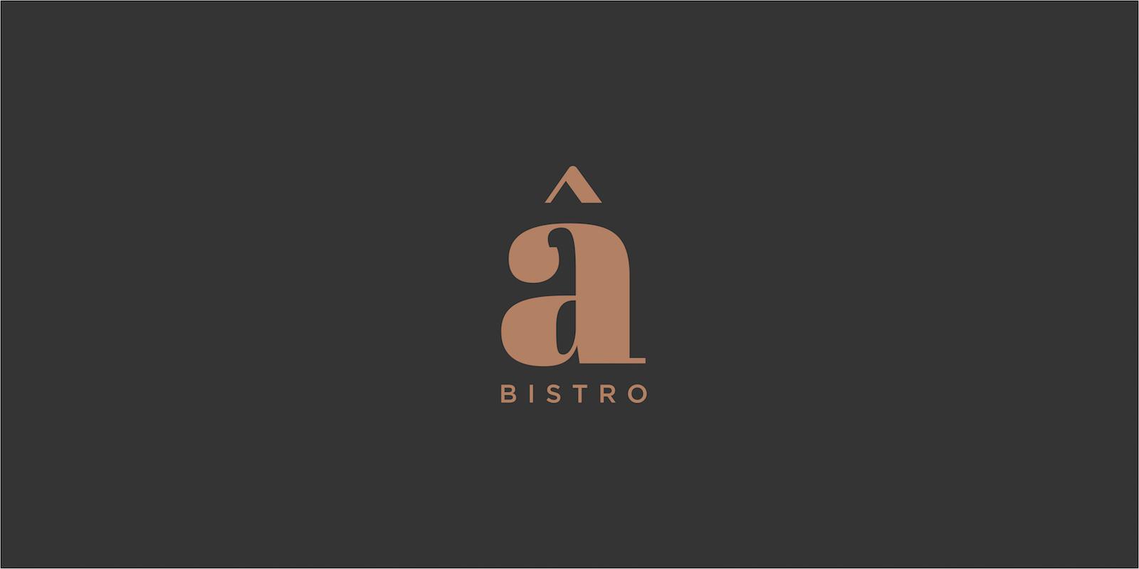 upscale bistro logo design sub brand