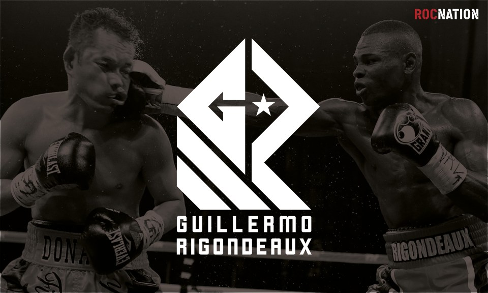 GR logo design for Rocnation world champion boxer