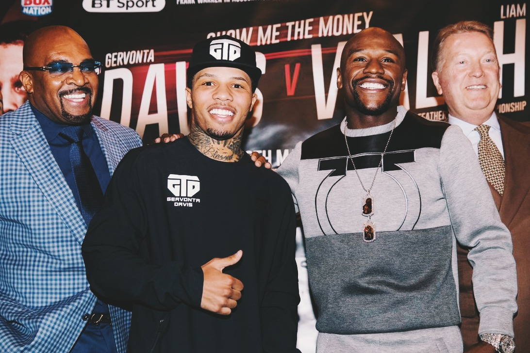 Gervonta Davis wearing logo with Floyd Mayweather