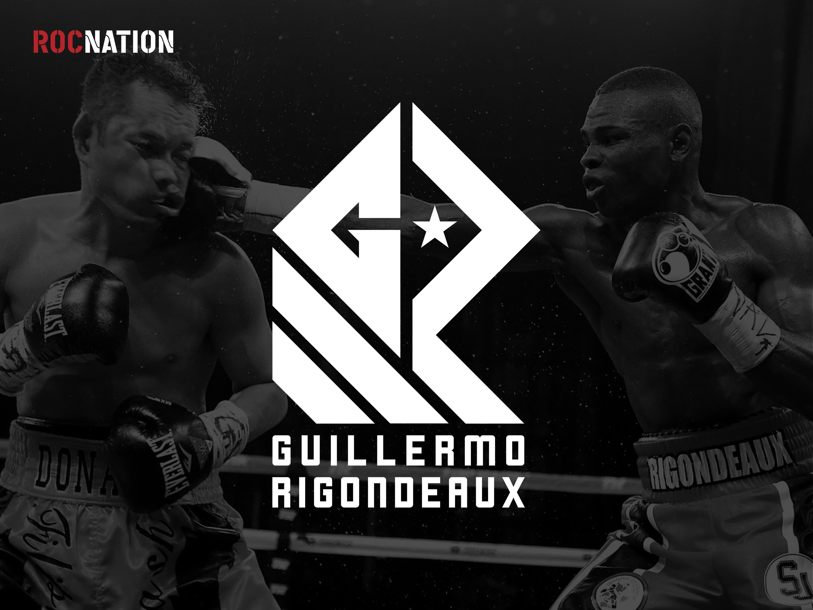 Guillermo Rigondeaux Rocnation athlete logo design