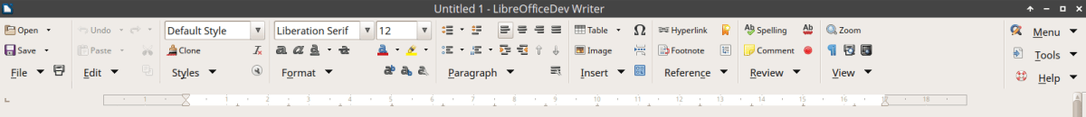 Groupedbar Notebookbar variant in LibreOffice 6 Writer