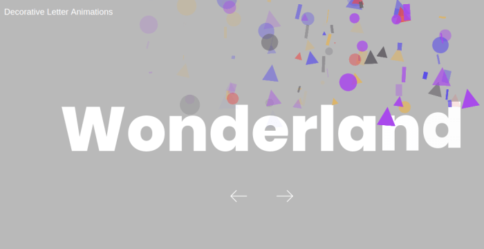 Letter Animations using Javascript Library Animation 4