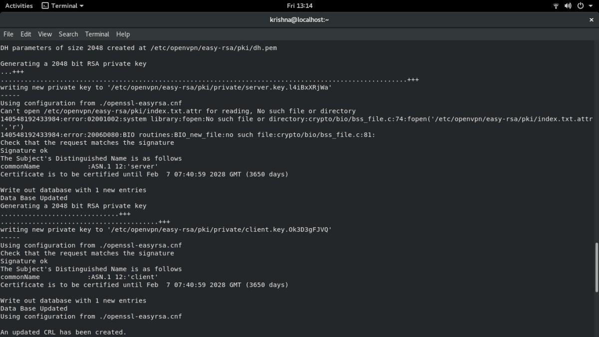 OpenVPN Setup - Running OpenVPN installation script