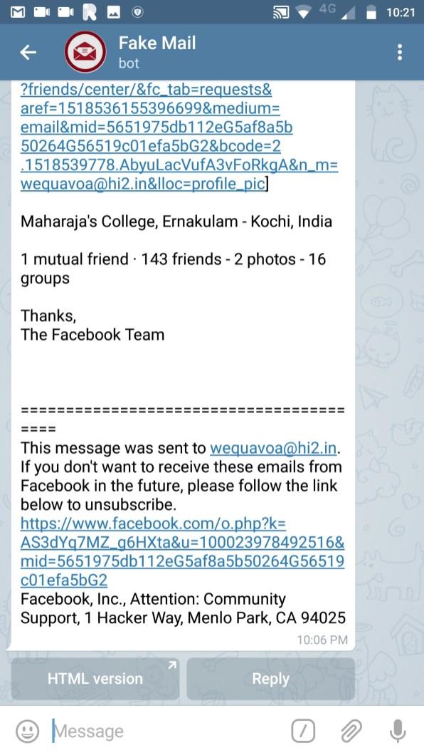 Fake Mail Bot