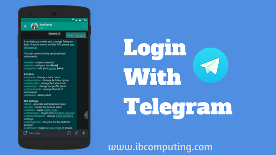 Telegram Implemented Login using Telegram for Websites