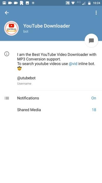 YouTube Downloader Bot