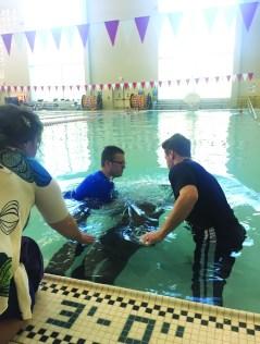 7. University Campus Pool Baptism Pic 2