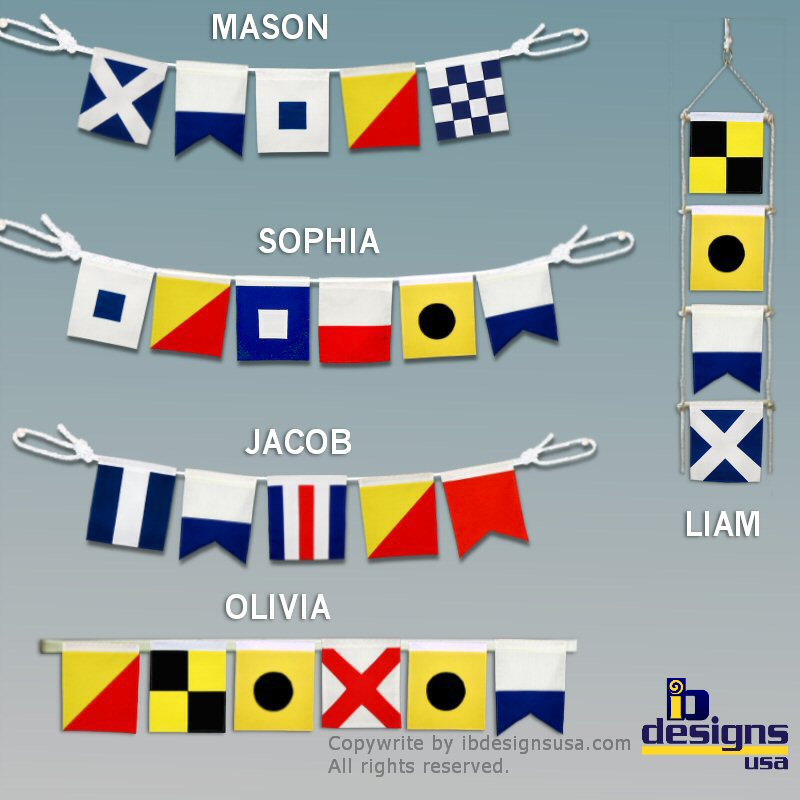 Nautical Signal Flag Ideas for the Home (3/4)