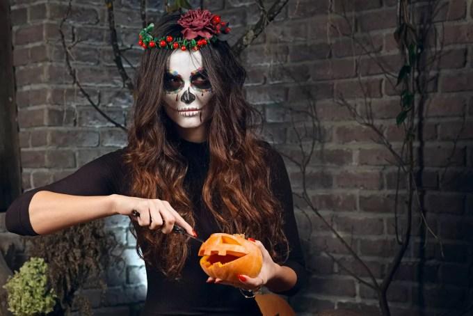 Female sugar skull makeup