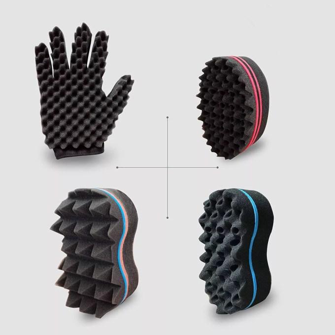Barber Curl Twist Sponge Glove(Right)