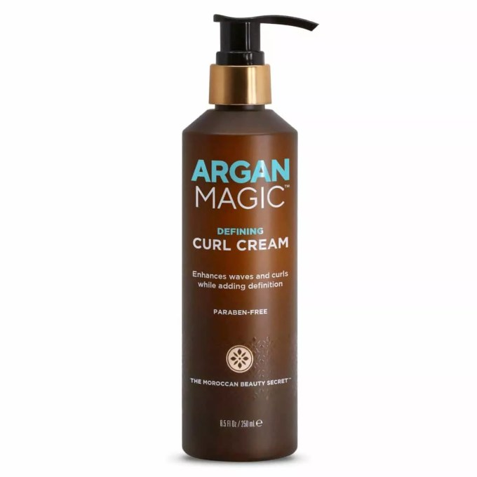 wavy hair routine argun magic curl cream