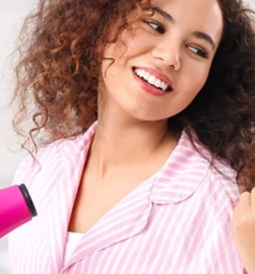 how to dry hair with a blow dryer feature