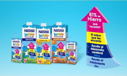 Las necesidades alimentarias de tu bebé cubiertas con Nestlé Junior Crecimiento