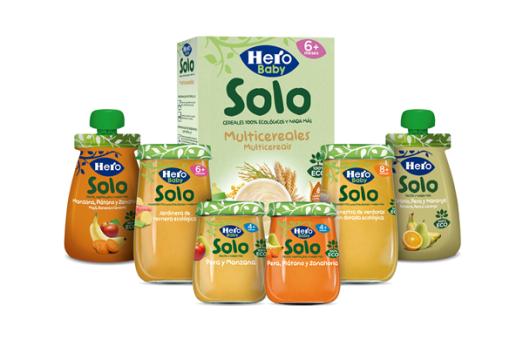 La gama  Hero Baby Solo, hechos con ingredientes 100% ecológicos