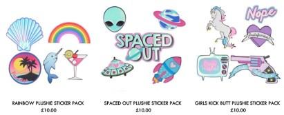 skinny dip sticker pack