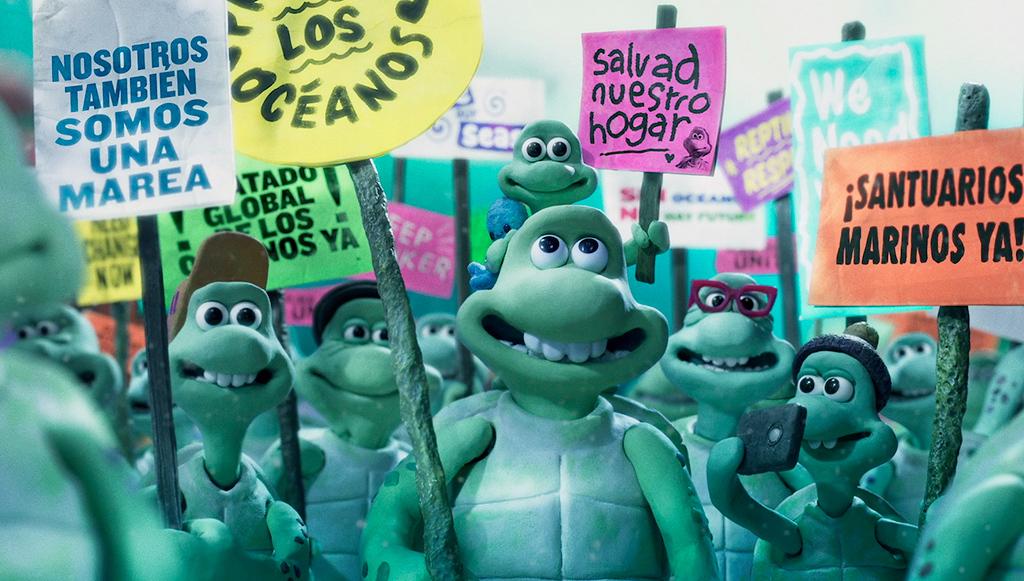 Denuncian actrices oscarizadas situación de los océanos en corto de animación