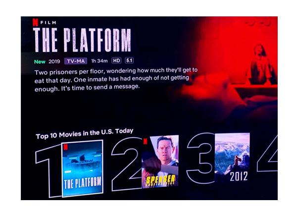 """Película española """"El hoyo"""" triunfa en Netflix de Estados Unidos"""
