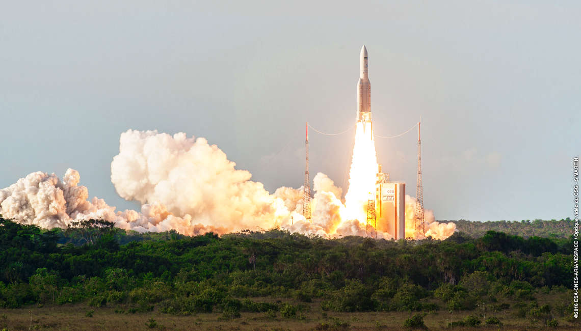 Launch of the Sky Muster II from Kourou on 5th October 2016 on board an Ariane 5