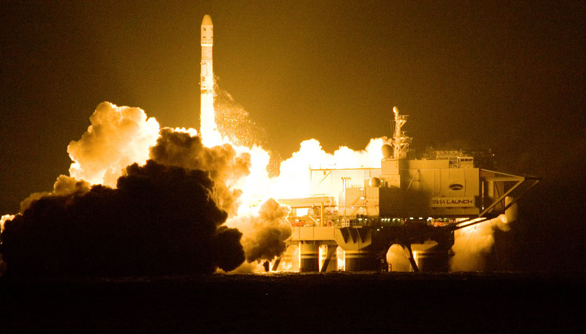 Intelsat 19 lift off from Sea Launch Platform including Loop Heat Pipes for thermal control