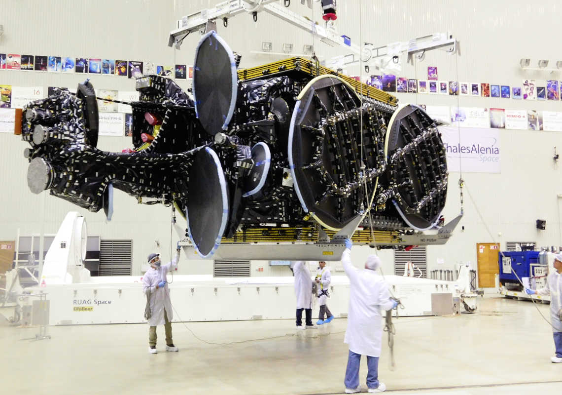 Intelsat 31 in preparation for Launch at Baikonur