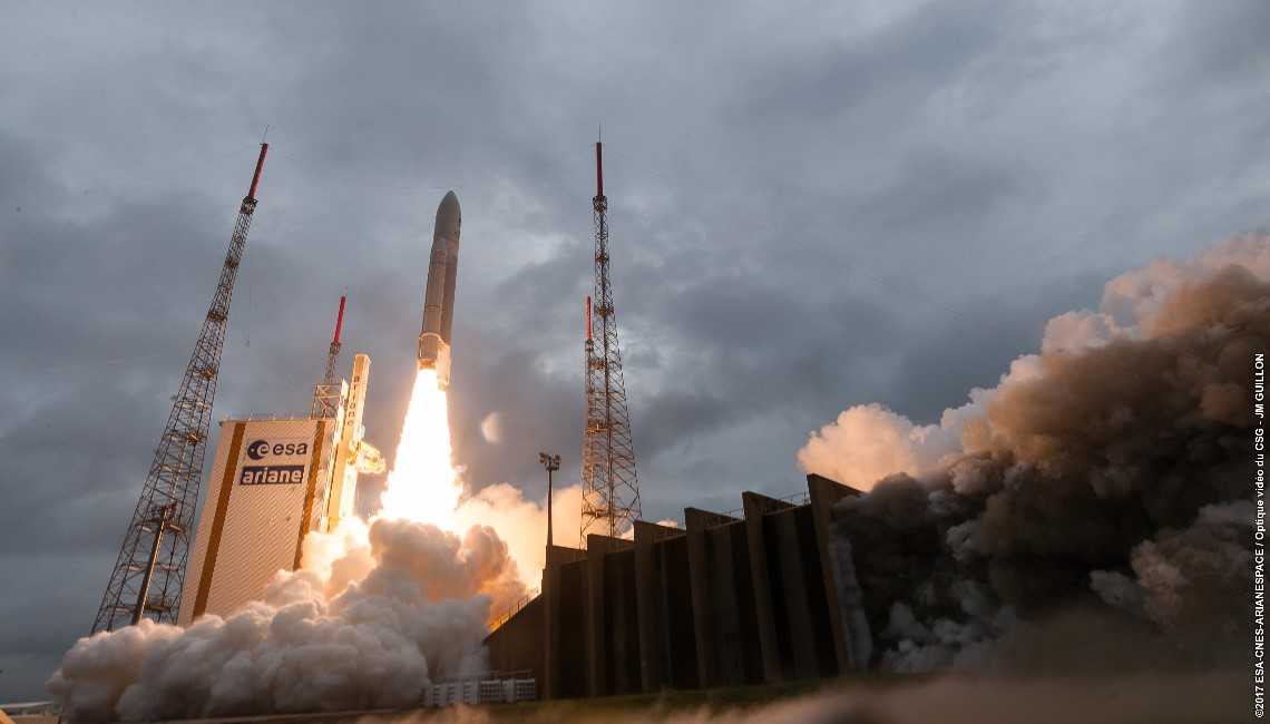 Launch of Galileo 19, 20 21 and 22 on board an Ariane 5. Credit ESA CNES ARIANESPACE