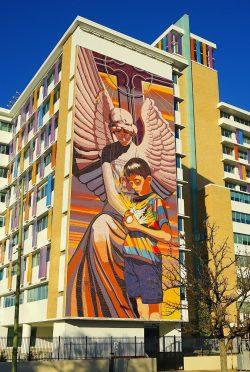 Spirit of Healing. Children's Hospital of San Antonio. 1997.  Mosaic tile. 40x93.   Photo Ricardo Romo 2020
