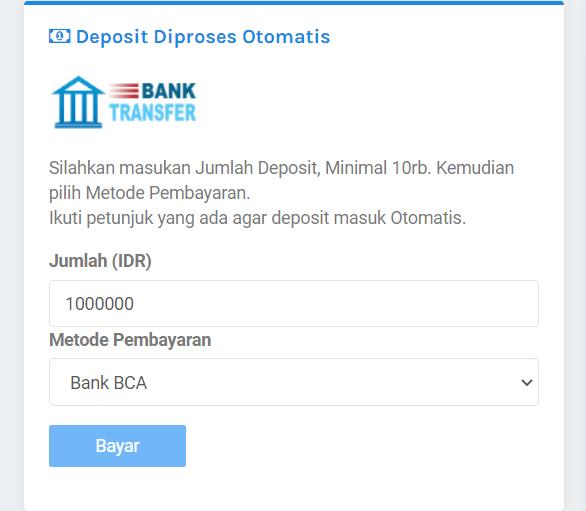 BosPanel Deposit Saldo