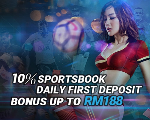 iBET Casino - 10% Sportsbook daily first deposit bonus up to RM188