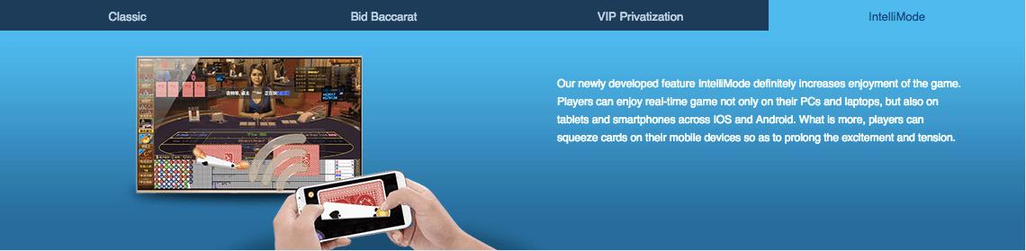 iAG-Classic Baccarat,Bid Baccarat,VIP Privatization Baccarat,IntelliMobe Baccarat