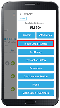 In-site Credit Transfer-step 2