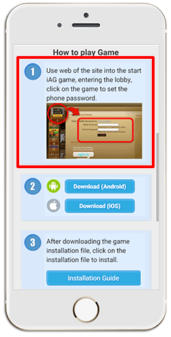 Installing iAG on iPHONE (iOS)-step 3
