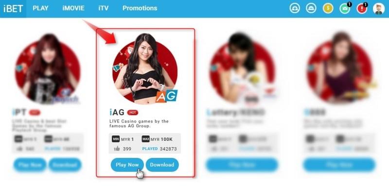 iBET Malaysia Online Casino iAG Live Casino