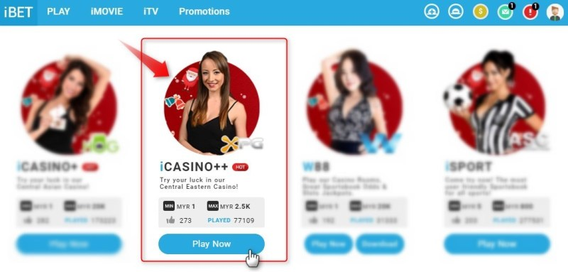 iBET Live Casino Malaysia iCASINO++