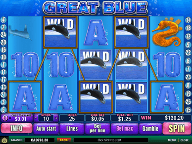 iBET Online Casino Malaysia Great Blue Slot Game