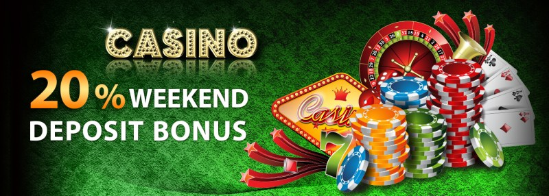iBET Online Casino Malaysia 20% Weekend Deposit bonus