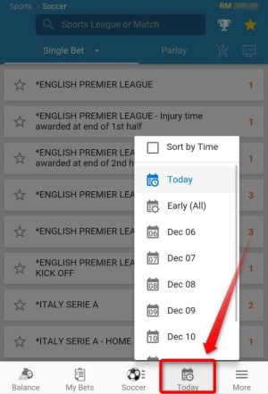 iBIT SPORT also provides schedule of tournament, makes you references.