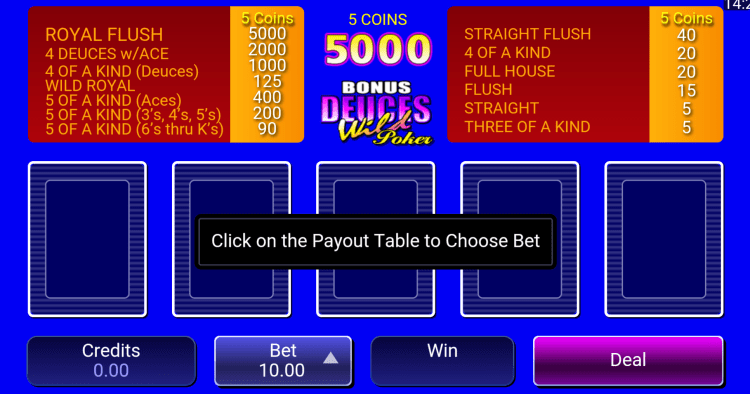 The interface of live poker